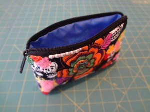 Day of the Dead Medium Pouch for Michelle D. in MD
